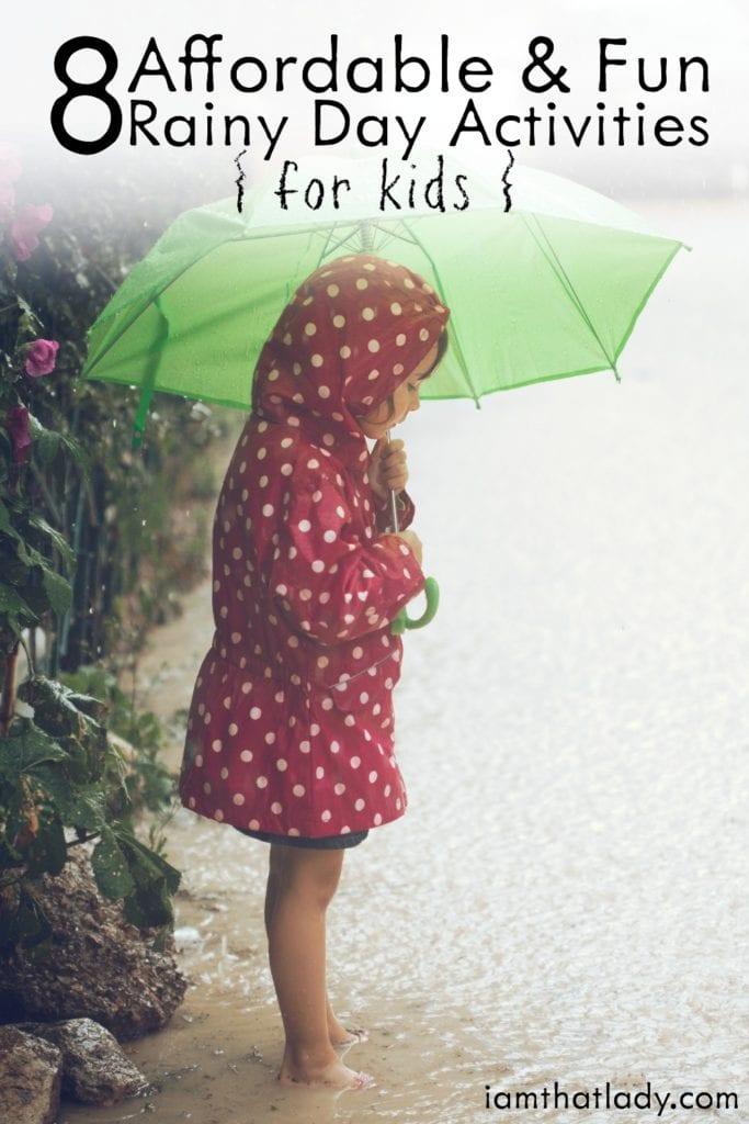 8 actividades económicas y divertidas para niños en días lluviosos
