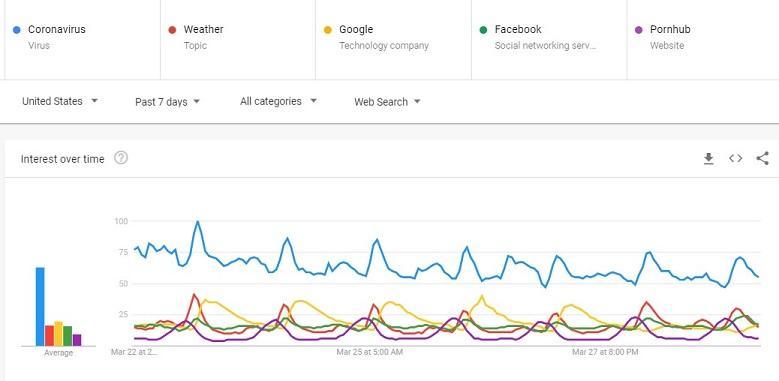 Tendencias de búsqueda de Google durante el brote de COVID-19