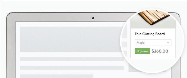 cómo construir un sitio web de comercio electrónico botón de compra de Shopify