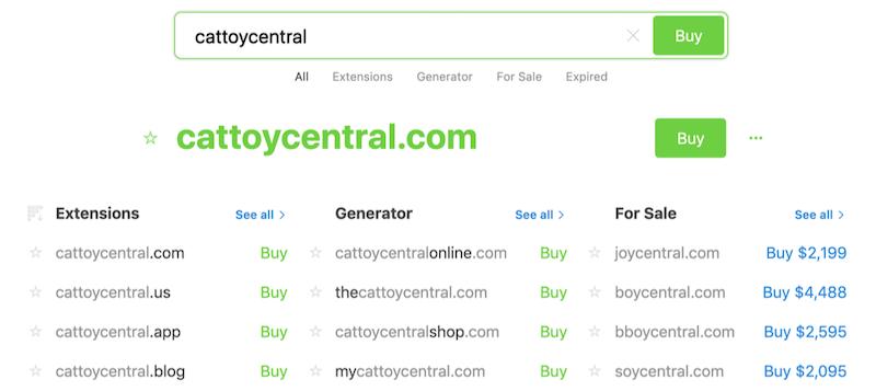 cómo construir una búsqueda de dominio de sitio web de comercio electrónico