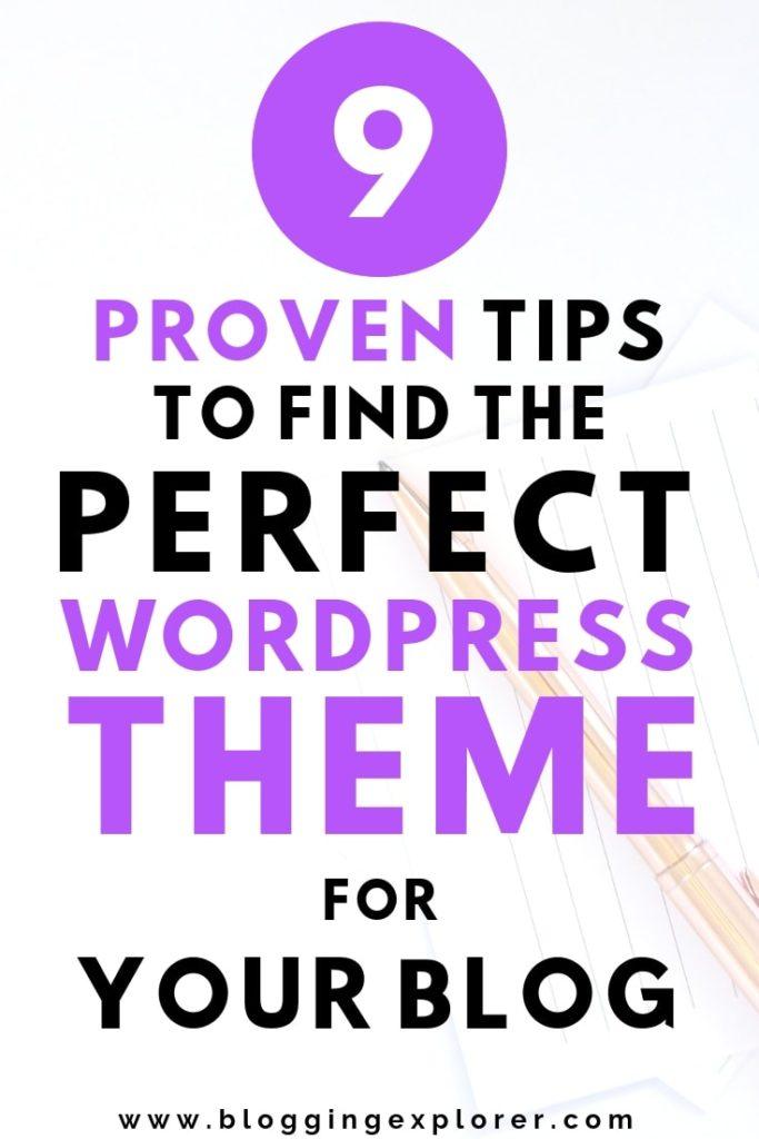 Encuentre el tema perfecto de WordPress para bloguear con estos 9 consejos simples para bloggers principiantes
