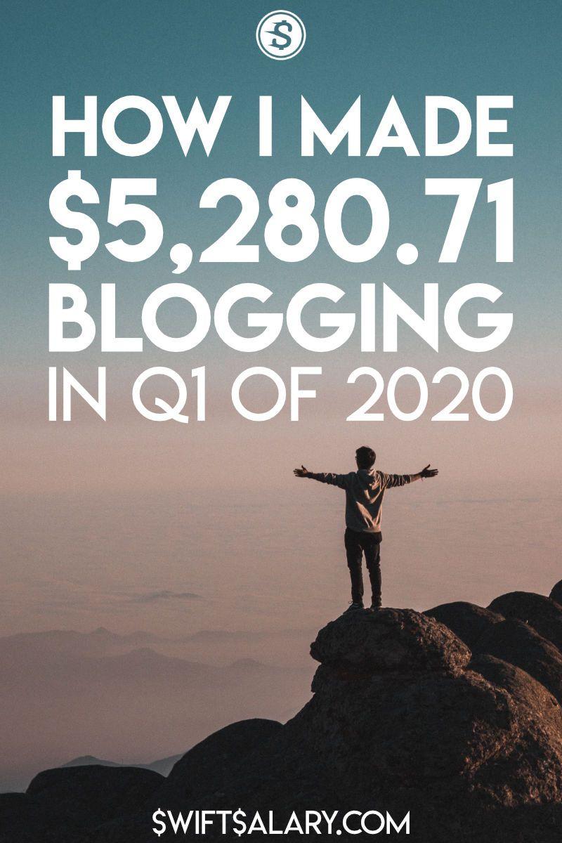 Cómo gané $ 5,280.71 blogueando en el primer trimestre de 2020