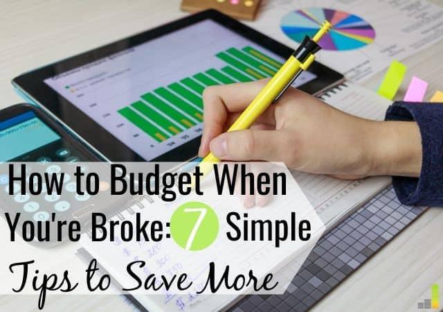 Cómo presupuestar cuando estás roto