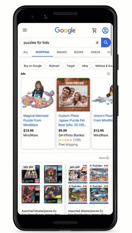ejemplo gratuito de listados de Google Shopping