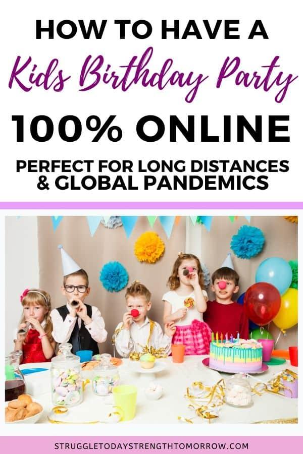Cómo organizar una fiesta virtual de cumpleaños a larga distancia. Consejos e ideas para organizar una fiesta sencilla en casa con poco presupuesto. Incluye ideas de favor, comida, juegos y sugerencias sobre dónde hacer invitaciones en línea. Ya sea que esté atrapado en su hogar o se aísle, puede organizar una gran fiesta con amigos desde la comodidad y seguridad de su sofá. #frugalfamily #frugalliving #partyonabudget #simplepartyideas #birthdayparty