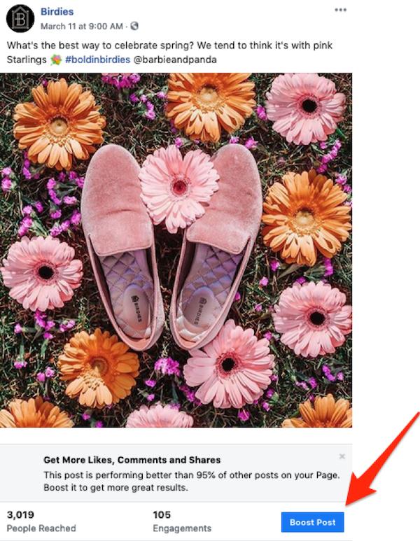 publicaciones patrocinadas en Facebook impulsar publicación