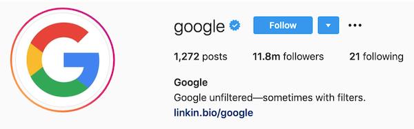 instagram bios google