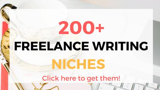 200 nichos de escritura independientes - trabajos de escritura independientes para principiantes