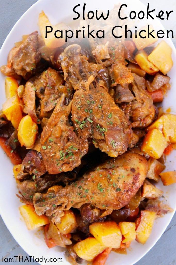 Pollo al pimentón de cocción lenta increíble