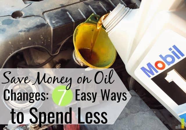 Precios del cambio de petróleo cerca de mí: cómo reducir los costos
