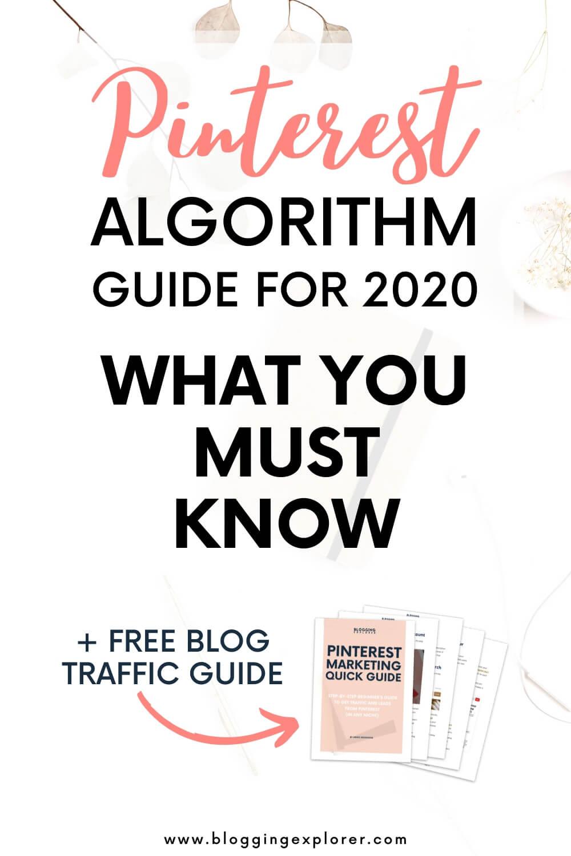 Algoritmo 2020 de Pinterest: cómo aumentar el tráfico de blogs con estrategias de marketing de Pinterest para principiantes