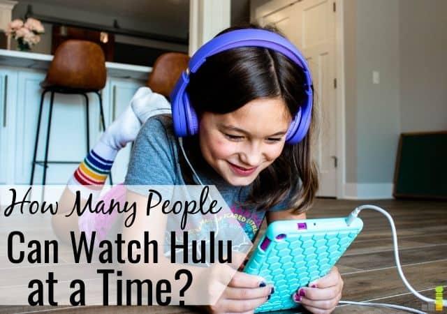 ¿Cuántas personas pueden ver Hulu a la vez?