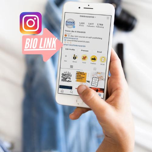 ¿Qué es un enlace en Bio Tool? Forma gratuita de generar tráfico desde Instagram - ThinkMaverick