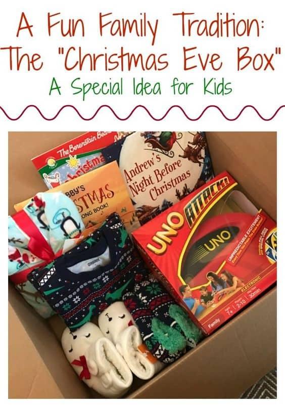 La tradición de la caja de Nochebuena en thechirpingmoms.com