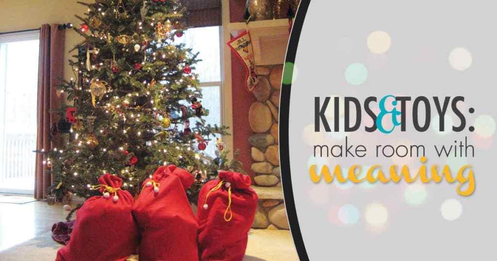 Niños y juguetes: hacer espacio, con significado en westmichiganwoman.com