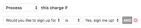 Ejemplo de lógica condicional de PayPal