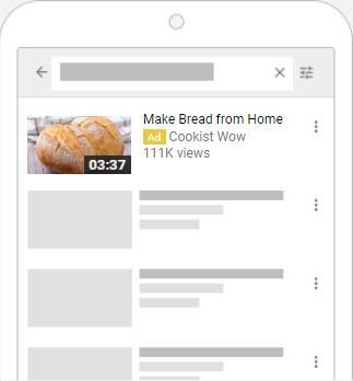 Anuncio de pan publicitario de YouTube