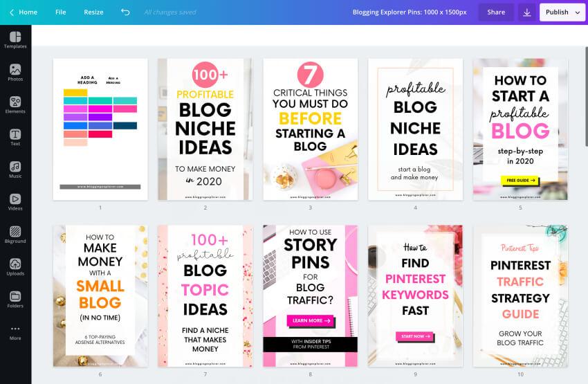 Consejos y tareas rápidas de marketing de Pinterest: use plantillas de pin para crear nuevos pines más rápido y atraer más tráfico a su blog