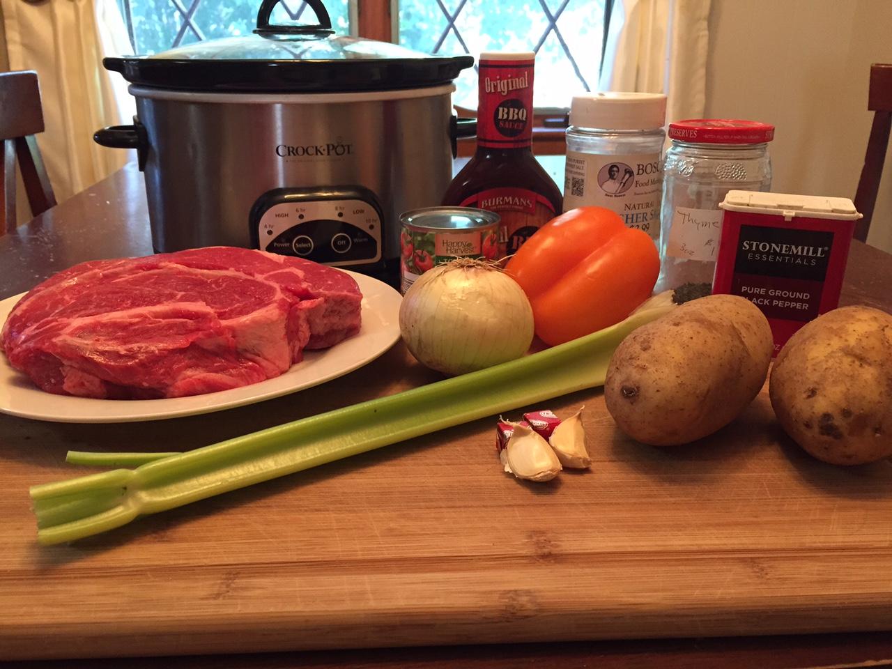 Ingredientes asados a la olla
