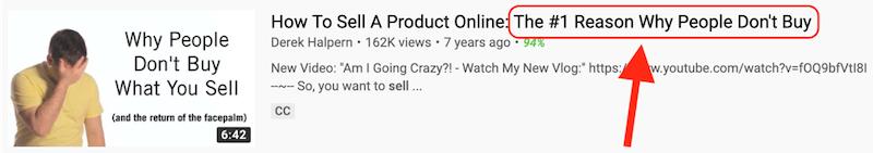 cómo obtener más vistas en la optimización del título de youtube
