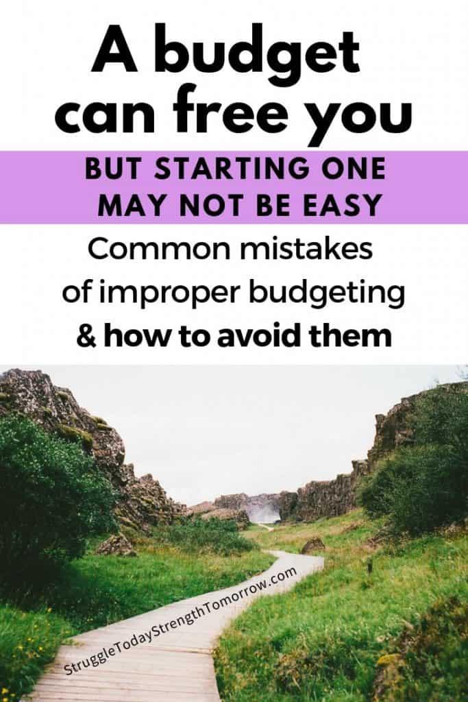 un presupuesto puede liberarlo, pero comenzar uno puede no ser fácil. Errores comunes de presupuestos inadecuados y cómo evitarlos. Haga clic para ver por qué la mayoría de los presupuestos tardan en ponerse en marcha y cómo manejar las luchas inesperadas de las que rara vez se habla. # Presupuesto #frugalliving #daveramsey #babysteps # presupuestación #familyfinances #debt