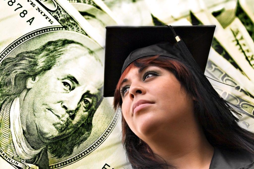 Graduate with money.