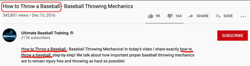 cómo obtener más vistas en la descripción de youtube