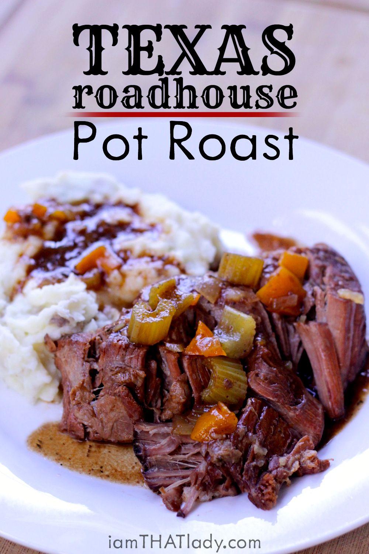 ¡Pot Roast no tiene que ser aburrido! Este Texas Roadhouse Pot Roast está lleno de sabor. ¡Te ENCANTARÁ esto!