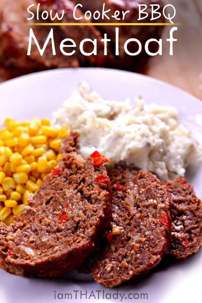 El MEJOR pastel de carne CrockPot   Receta de pastel de carne de barbacoa fácil y deliciosa