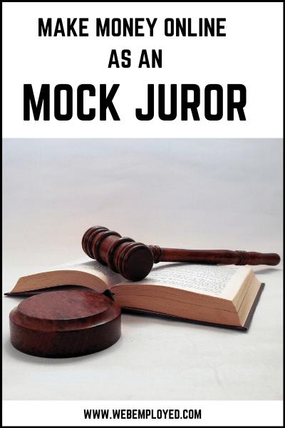 Gane dinero en línea como un jurado simulado