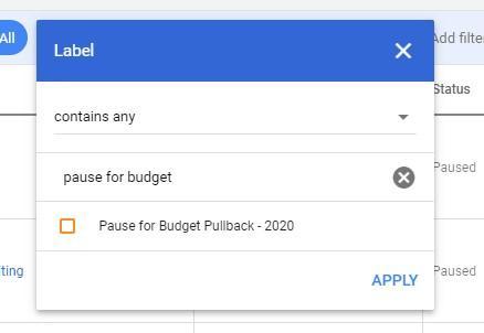 Etiquetas de anuncios de Google