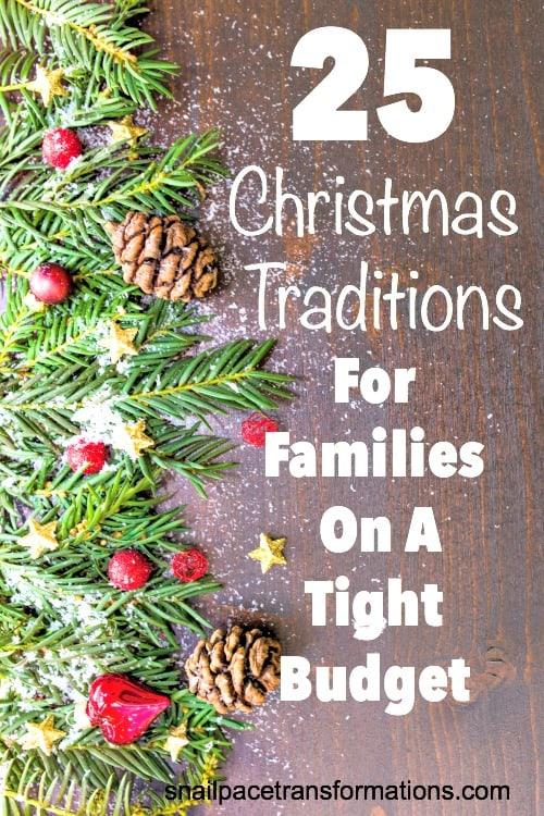25 tradiciones navideñas para familias con un presupuesto ajustado escrito por Victoria en snailpacetransformations.com