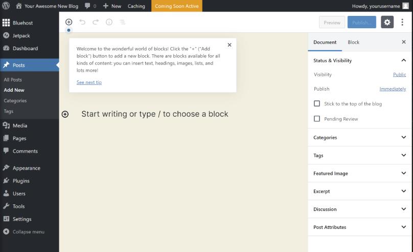 Cómo escribir tu primera publicación de blog