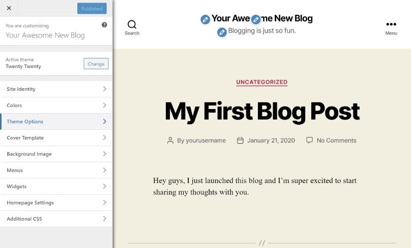 Cómo comenzar a personalizar un tema de blog de WordPress