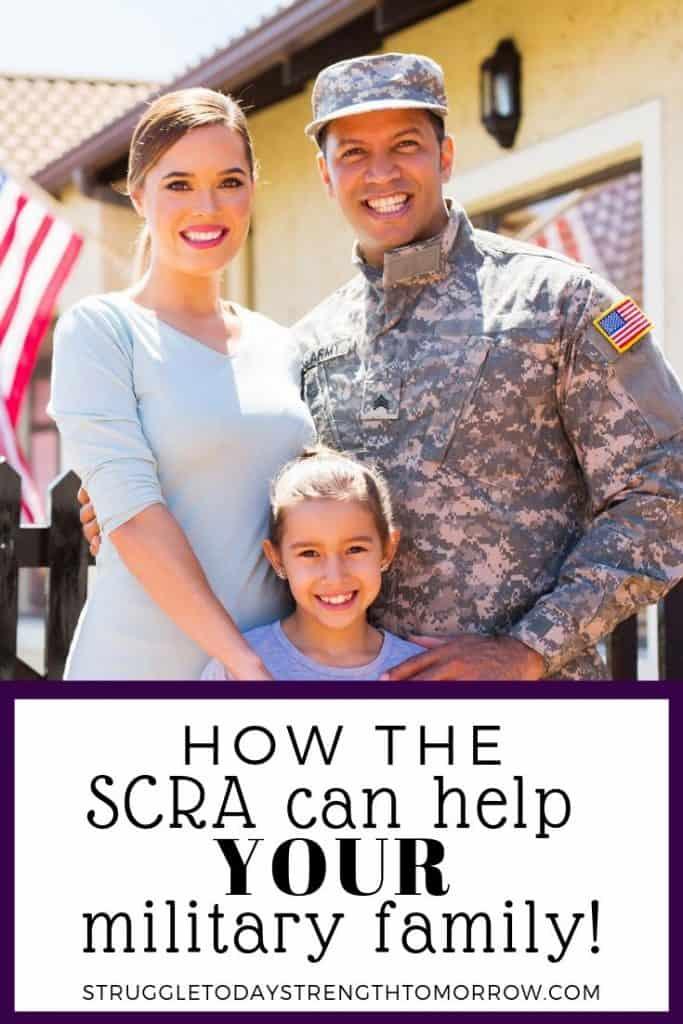 ¡Haga clic para ver cómo SCRA puede ayudar a su familia militar a ahorrar dinero en el pasado, presente y futuro! La ley de ayuda para miembros del servicio puede ayudar a su familia a ahorrar miles de dólares cada año. #frugalliving #payoffdebt #familia #militar