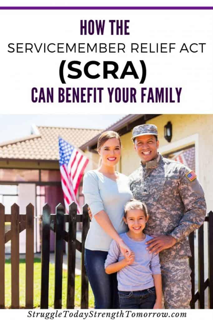 cómo la ley de ayuda para miembros del servicio (SCRA) puede beneficiar a su familia. Pague deudas y cancele contratos sin repercusiones gracias a este práctico programa de servicio activo. #frugalliving #payoffdebt #familia #militar