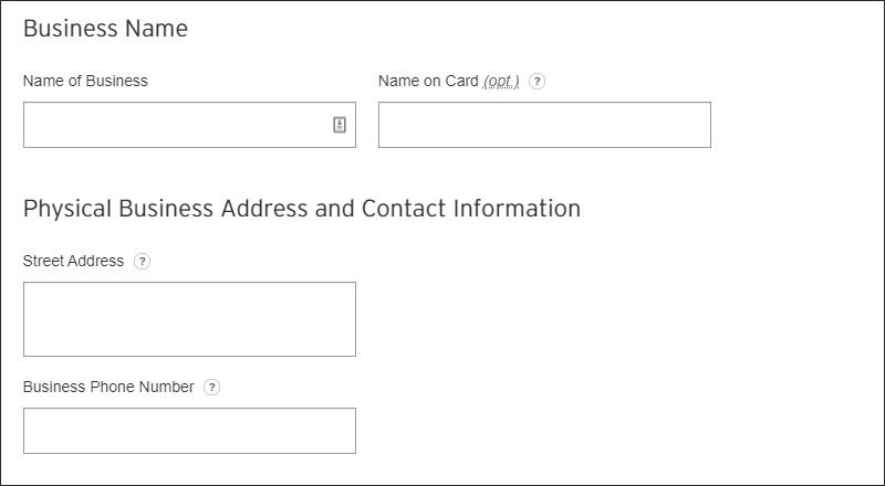 solicitud de tarjeta de crédito para pequeñas empresas