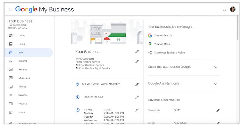 cómo crear y verificar la cuenta de google my business tablero de google my business
