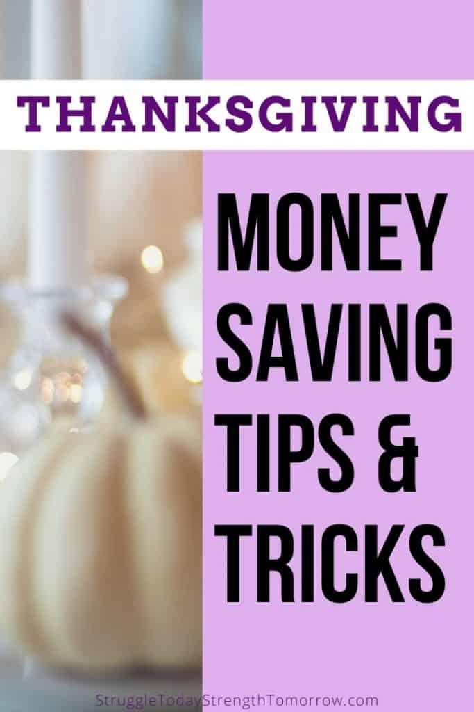 Consejos y trucos para ahorrar dinero en Acción de Gracias. Cómo reducir costos en la cena, presupuesto y ahorro. No solo eso, sino también mi consejo para hacer una decoración de mesa barata que reúna a la familia y ayude a mantener felices a los niños. Haga clic ahora para ver los mejores consejos y trucos de la historia. #frugalliving #frugalthanksgiving #savingmoney #budgetandsave #tipsandtricks #finances #thanksgiving #holidays #holidaysavings