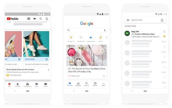 Ejemplo de anuncio de Google Discovery