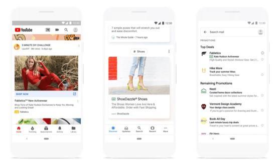 ejemplo de anuncio estándar de Google Discovery
