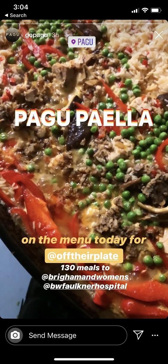 comidas donadas de Pagu