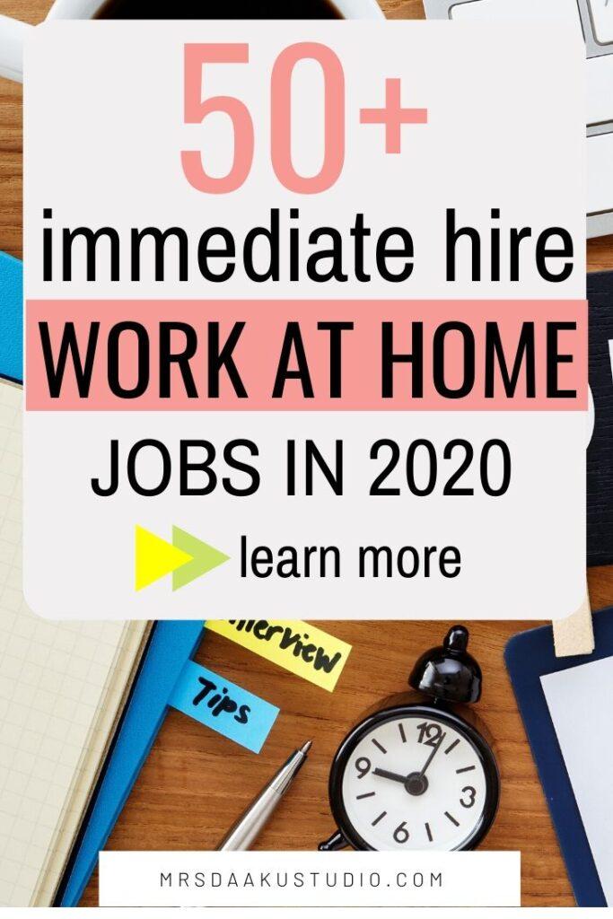 contratación inmediata de trabajo desde casa