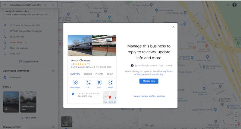 cómo crear y verificar su cuenta de google my business administrar este negocio google maps