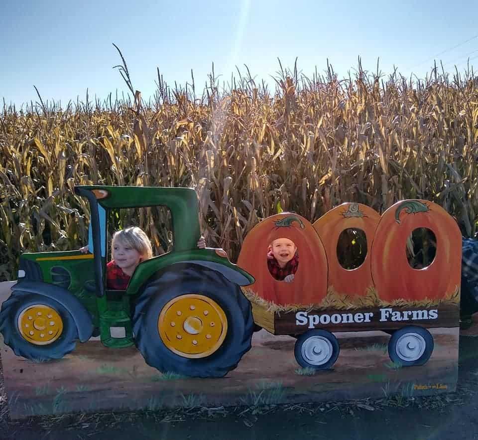 Spooner granjas foto de los niños