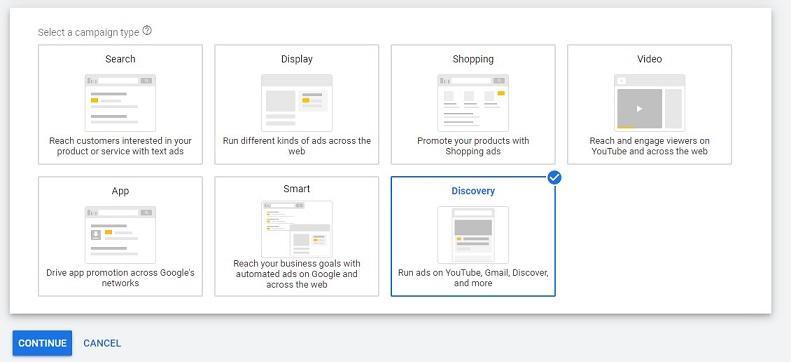 cómo crear una campaña publicitaria de Google Discovery