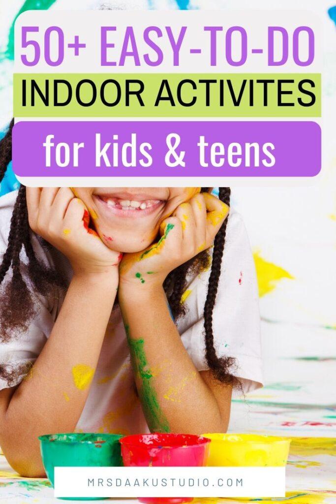 actividades de interior para niños y niños